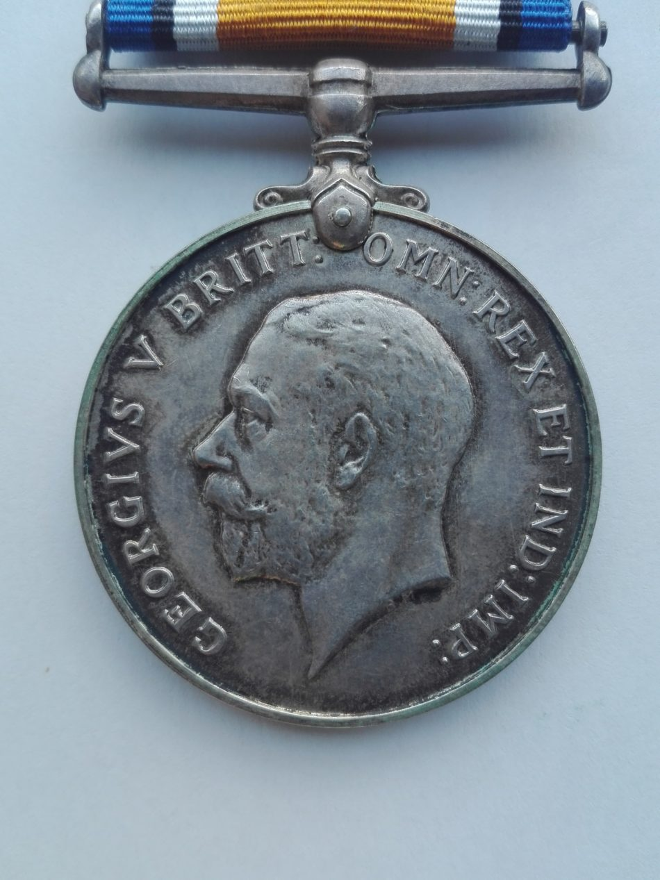 WW1 British war medal Obverse