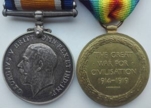 British war and victory medal pair