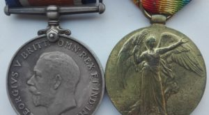 UK Silver british war medal and victory pair