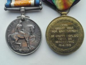 Reverse of SASC pair of medals
