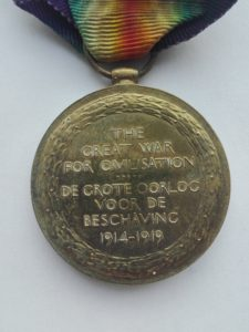 Reverse of the South Africa WW1 Victory medal