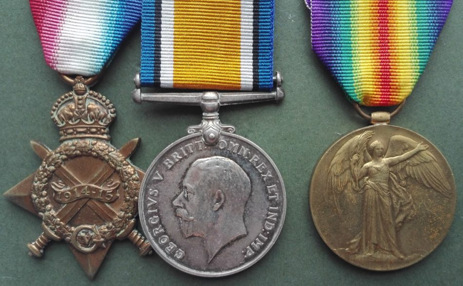 WW1 trio of 1914 15 star, british war medal and victory to A6850 A.MCLEOD SMN RNR