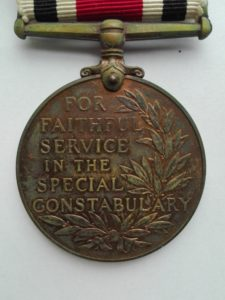 UK Police medal George 6 reverse