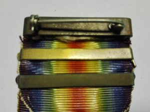 USA ww1 Victory medal Reverse showing slide on bars