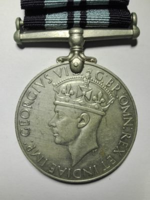 WW2 UK India service medal obverse