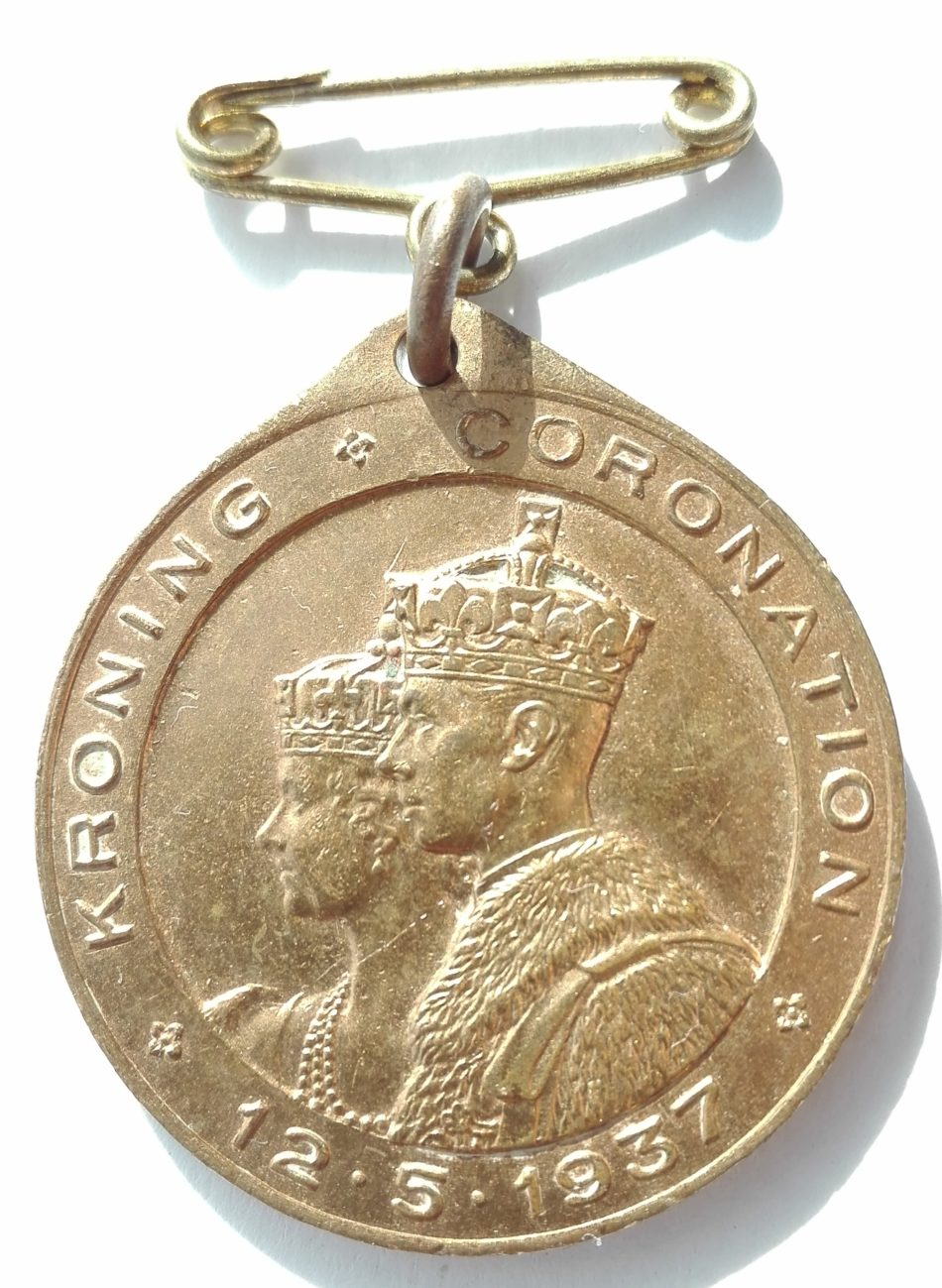 SA Coronation medal George 6th Obverse