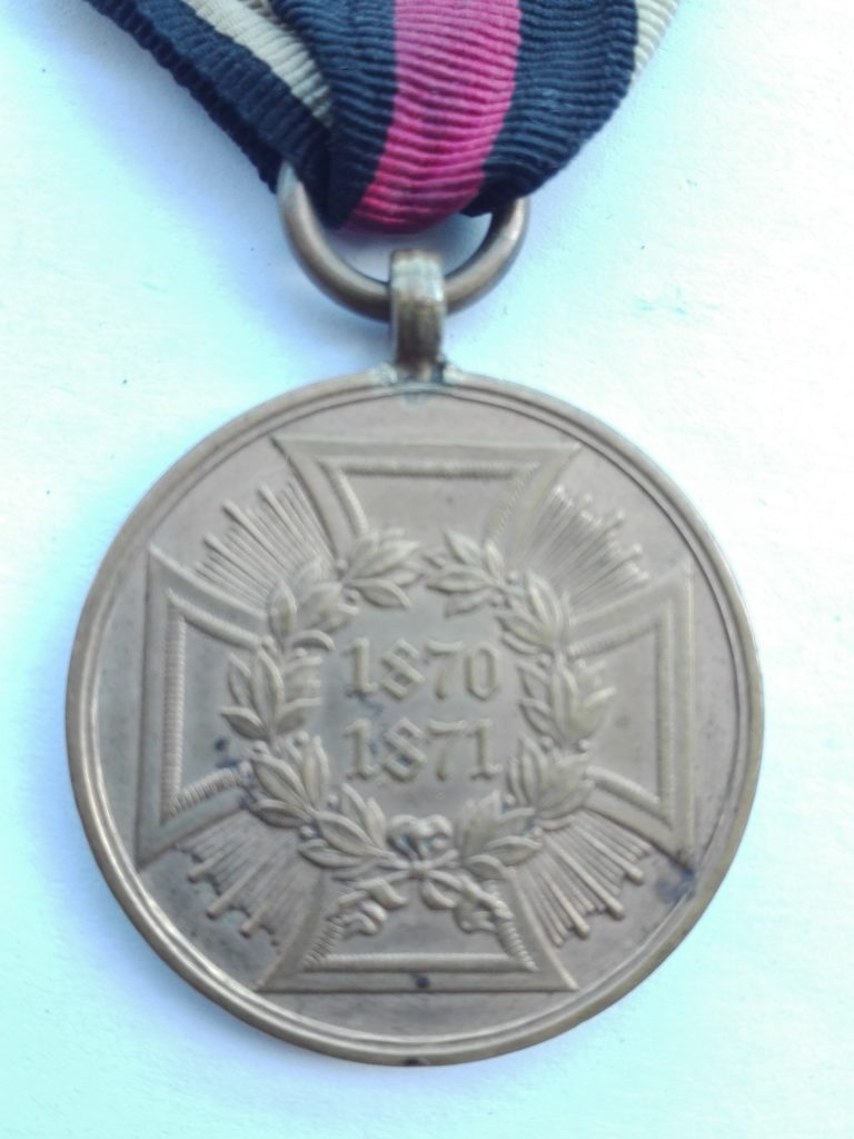 German War Commemorative Medal of 1870-1871 Obverse close up