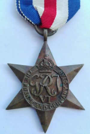 UK WW2 France and Germany star Obverse