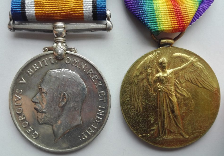 British WW1 pair of medals. BWM and Victory.