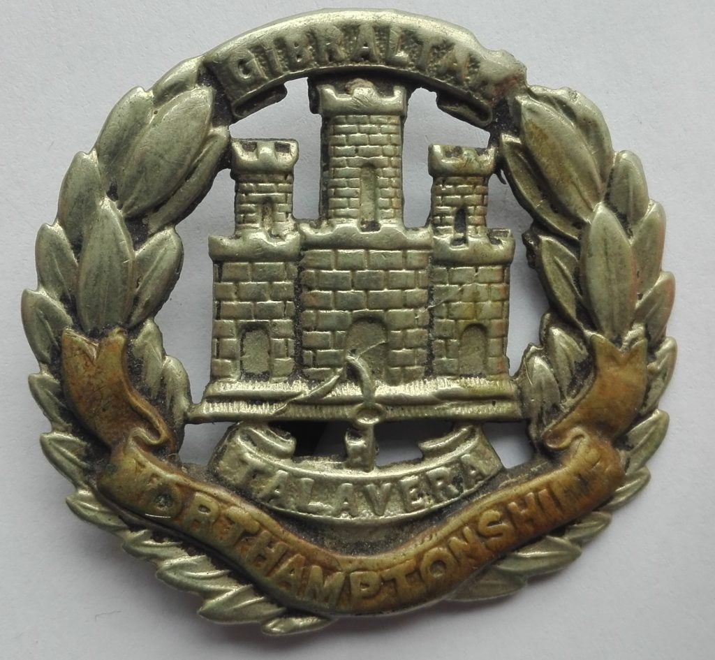Northamptonshire Cap badge from the first world war. Obverse