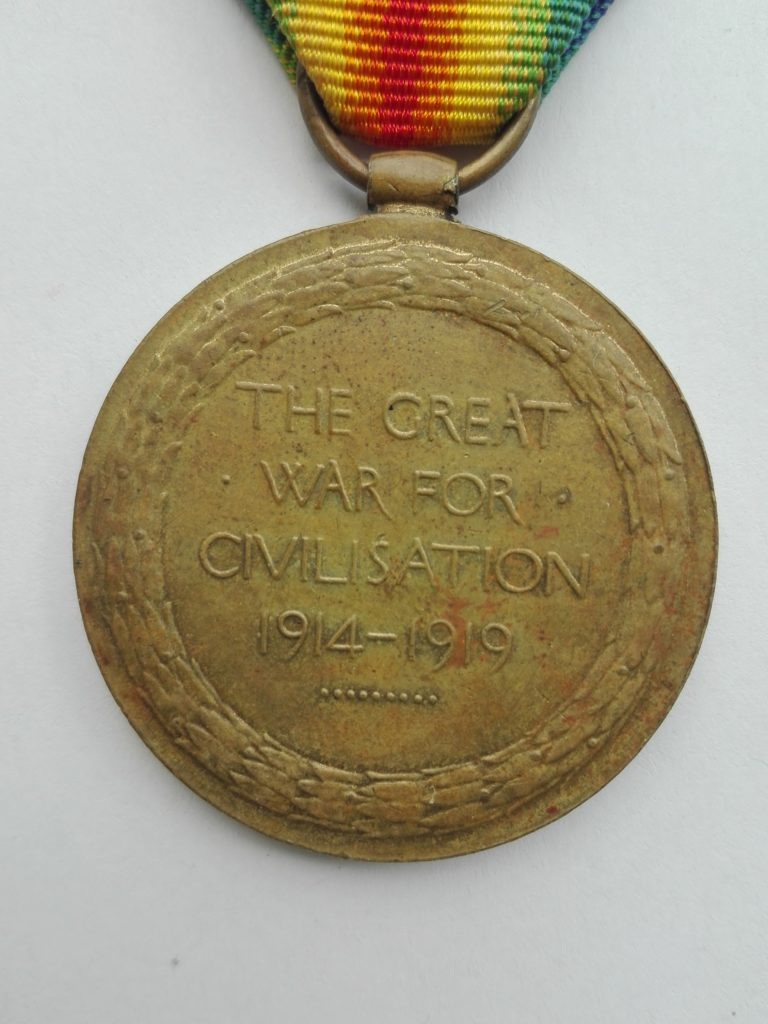 Reverse of Labour corps WW1 victory medal