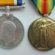 War medals pair to the Rifle Brigade, WW1