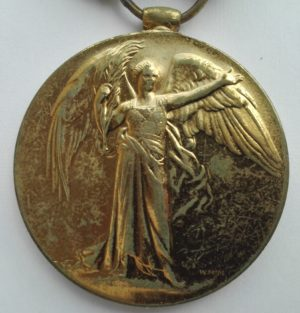 WW1 British victory medal to the Liverpool Regiment