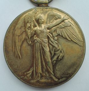 WW1 English victory medal Obverse