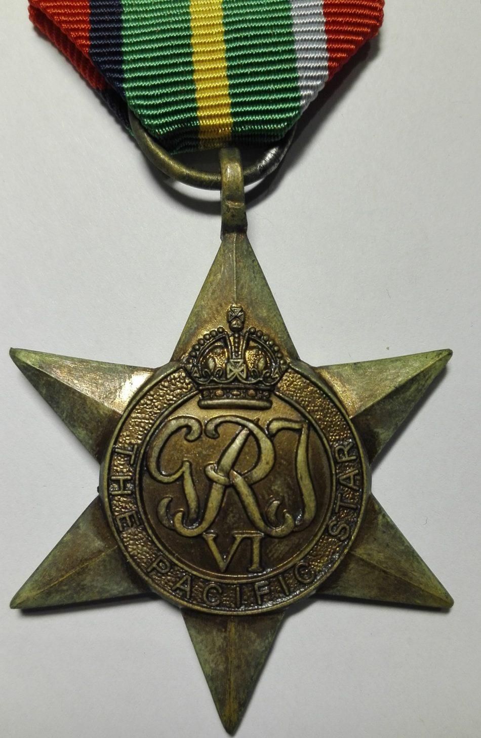 UK WW2 The pacific star medal Obverse
