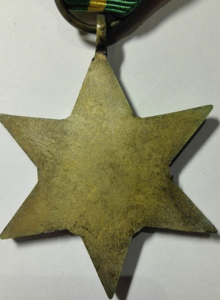 UK WW2 The pacific star medal Reverse
