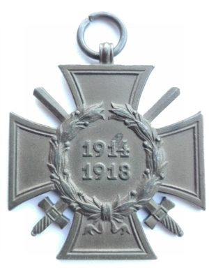 WW1 German war merit cross with swords F&B.L. Obverse