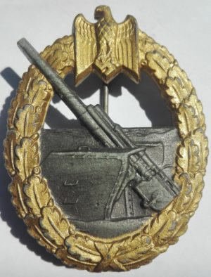 WW2 German Coastal Artillery badge FLL 43 Obverse