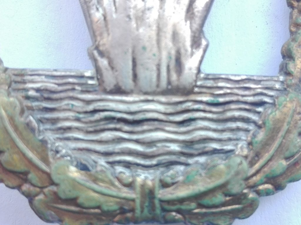 Wave detailing on the Schwerin Minesweeper badge - which is hard to reproduce both in quantity and style/detail.