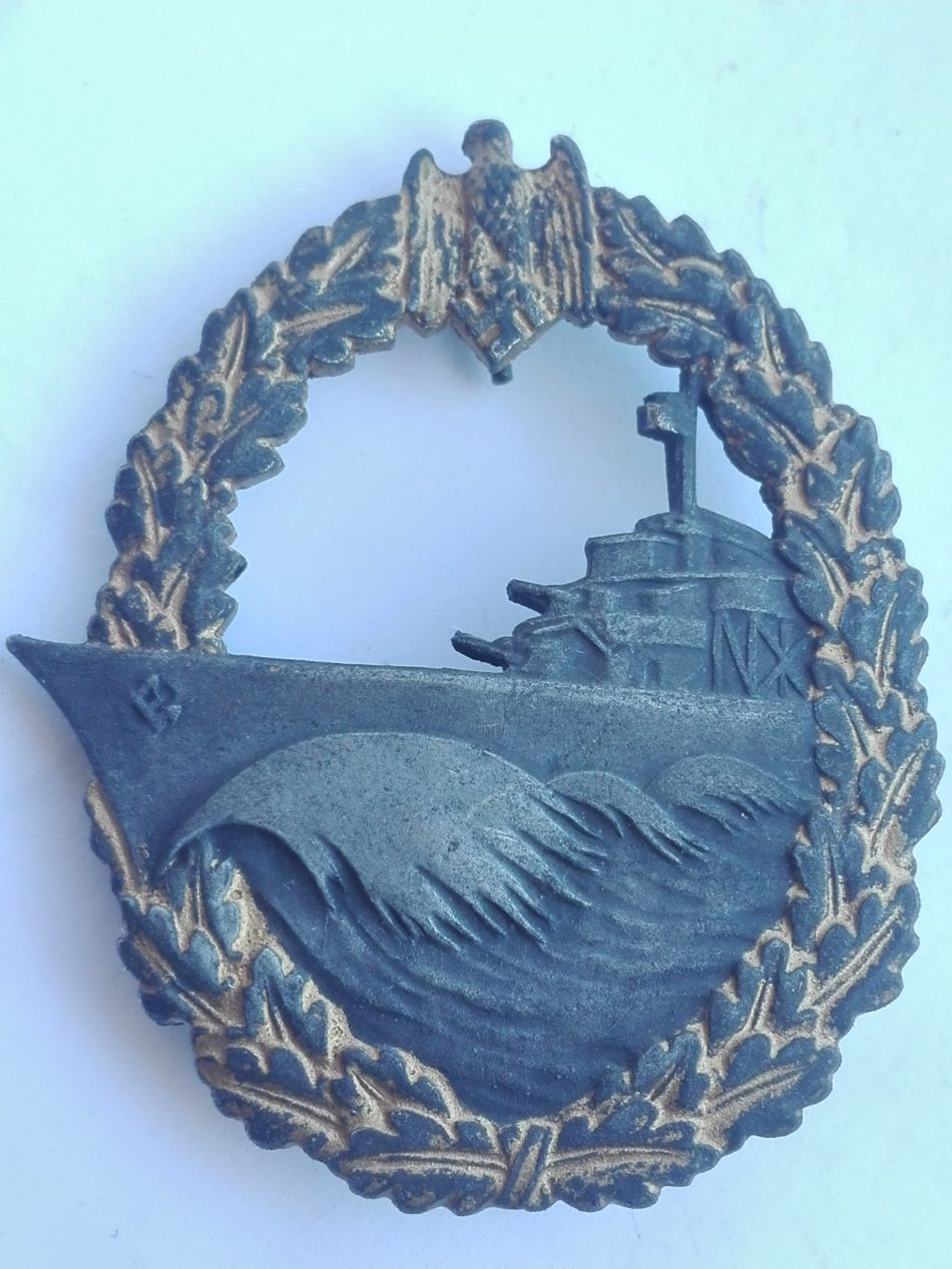 WW2 German Destroyer badge Zerstroyer Obverse
