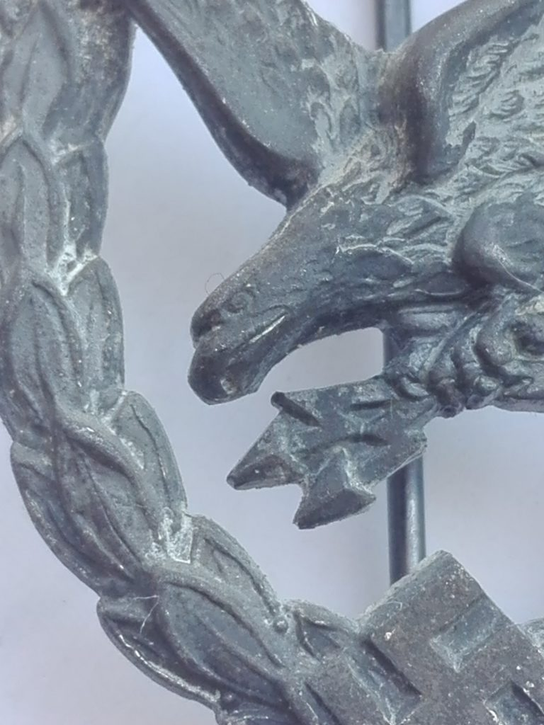 Close up image of the Eagles head and beak where fine detailing can be appreciated