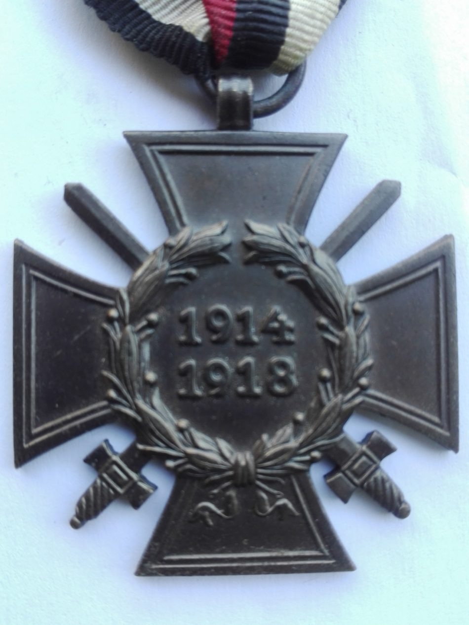 Germany 1914 1918 War service cross with swords 14 R.V. PFORZHEIM obverse