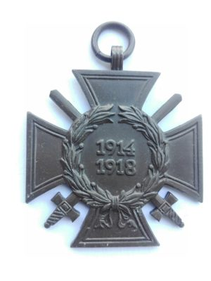 Germany 1914 1918 War service cross with swords manufacturer marked O 1