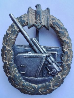 WW2 German Coastal Artillery badge by Schwerin Berlin Obverse