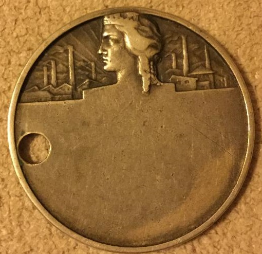 Reverse of the Italian Industrial confederation medal