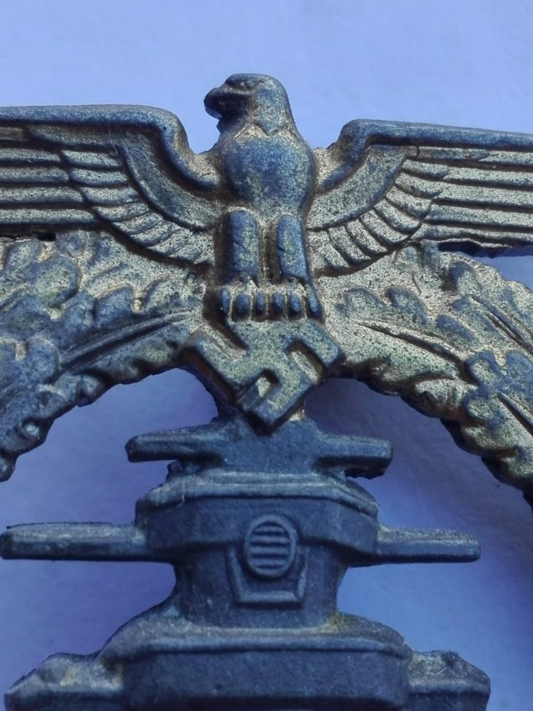 Eagle detail of R.S. HSF badge